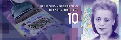 2018 CANADA 10 DOLLAR BILL RARE UNCIRCULATED Sold Separately 5 SET OF 10 (TEN)