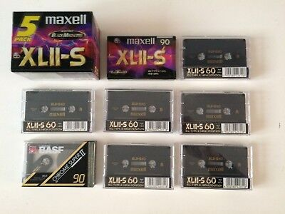 Lot 13 Cassettes Audio Maxell Xlii-S  Basf Chrome Super Ii Neuve