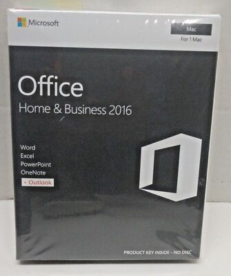 Microsoft Office Home and Business 2016 for 1 Mac English
