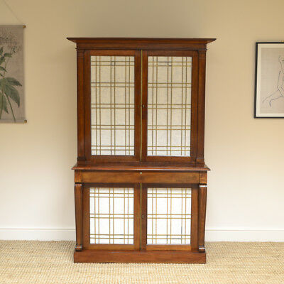 William IV Mahogany Antique Bookcase Cupboard