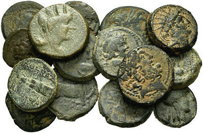 FORVM Lot of 15 Nice Ancient Greek Bronze Coins 15-21mm Attractive Coins