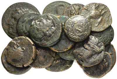 FORVM Lot of 20 Ancient Greek Bronze Coins Actual Coins in Picture