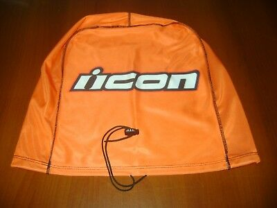 Motorcycle Helmet Bag Microfiber Icon Helmet Bag Carry Helmet Duffle Orange Moto