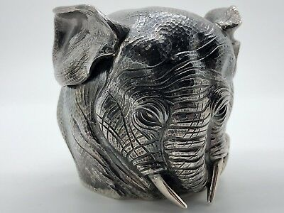 Antique Faberge Sterling Silver Elephant Vodka Cup Extremely Rare - Lot 1774