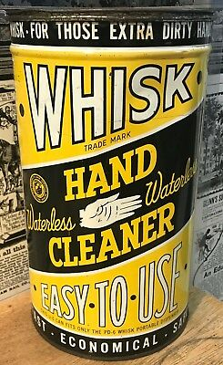 Vintage Large Whisk Waterless Hand Cleaner Tin / Can - Metalife Co. - Garage