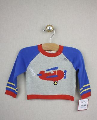 NEW Zubels Hand-crafted Airplane Sweater 12 months Boys Knit