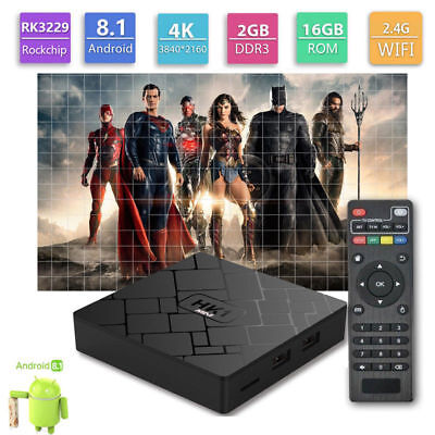 HK1MINI 2GB+16GB Android 8.1 RK3229 Quad Core Smart TV BOX WIFI HDMI 4K Media