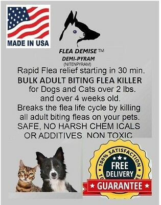 Flea Killer For Cats or Dogs 13-25lb bulk oral powder 500 oral doses works fast