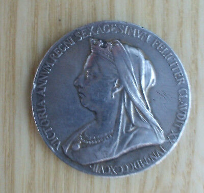 Queen Victoria, Official Diamond Jubilee Silver Medal, 1837-1897. 25mm