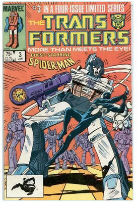 1985 MARVEL TRANSFORMERS #3 AMAZING SPIDER-MAN CROSSOVER NM+ condition