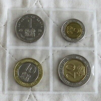 KENYA 4 COIN YEAR SET - sealed pack