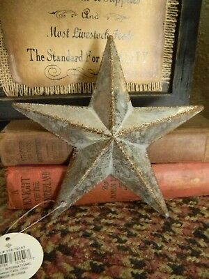 "Primitive Vintage Repro Shabby Country GALVANIZED Hanging Star Small 6"" Size"