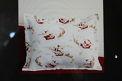 NEW Pottery Barn Kids full queen Santa's Sleigh Christmas flannel duvet cover