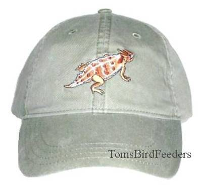 Horned Lizard Embroidered Cotton Cap NEW Horny Toad