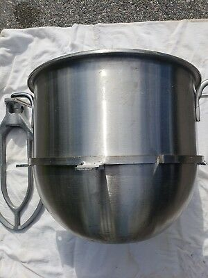 40 Quart Stainless Steel Mixing Bowl and Paddle forHobart Mixer