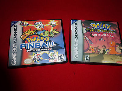 Empty Cases! Pokemon Pinball Ruby Sapphire  Red Rescue Team Game Boy Advance GBA