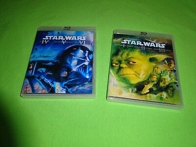 Custom Empty Replacement Cases!  Star Wars The Complete Saga Clear Blu-ray Yoda