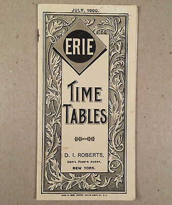 July 1900 ERIE RAILROAD PASSENGER TIMETABLES TIME TABLES All Branches, Divisions
