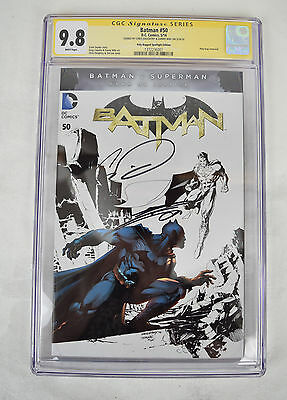 Batman 50 NM CGC SS 9.8 Signed Chris Daughtry Danny Miki Ink Variant Jim Lee