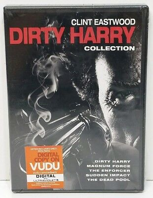 Clint Eastwood Dirty Harry 5-Film Collection DVD 2014 SEALED