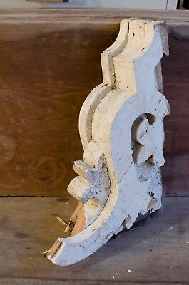 Antique White Chippy Paint Wood Corbels Antique Farm Homestead Corbels Slavage