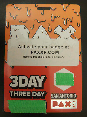 PAX South 2019 3 Day Fast Shipping (fee) or Free local pickup
