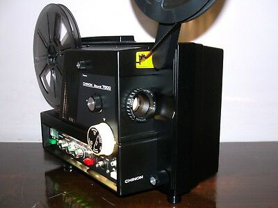 CHINON SOUND 7500 Super 8 Adjustable Speed Movie PROJECTOR ~SERVICED~