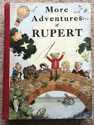 RUPERT BEAR ANNUAL ORIGINAL 1937 Slight blemish & crease spine Inscribed VG Plus