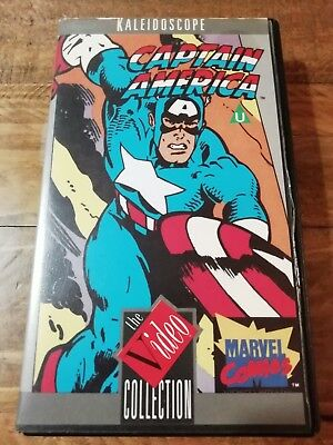 Captain America Marvel VHS ~ VERY RARE~ 1985 Video Collection