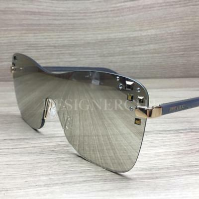 d089d1deba0 JIMMY CHOO MASK 138 Sunglasses Rose Gold Gray Silver Mirror NEW 99mm ...
