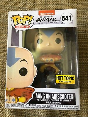 Funko Pop  #541 Aang on Airscooter Avatar Last Airbender Hot Topic Excl In Hand