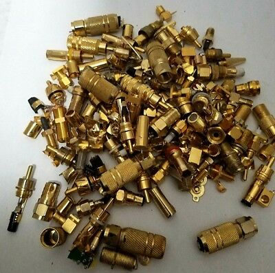 550 Gram Scrap Gold Recovery Lot. Gold Plated Pins and Connectors.