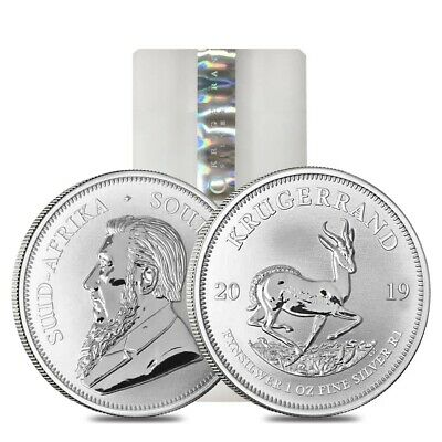 Sale Price - Roll of 25 - 2019 South Africa 1 oz Silver Krugerrand BU (Tube, Lot