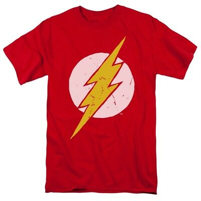 Justice League of America New Flash Costume T-Shirt DC Comics Sizes S-3X NEW