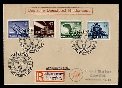 DR WHO 1944 GERMANY AMSTERDAM DIENSTPOST ALPENVORLAND SEMI POST  d76298
