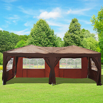 Outsunny 10x20ft Sun Shelter Pop up Party Tent Folding Patio Coffee