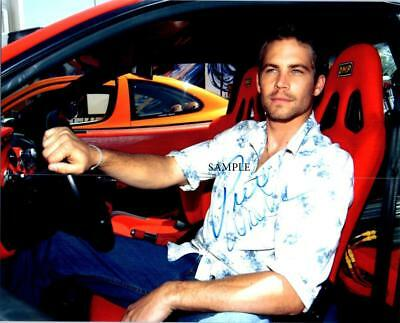Paul Walker #1 Reprint Signed 8X10 Photo Autographed Christmas Gift Man Cave