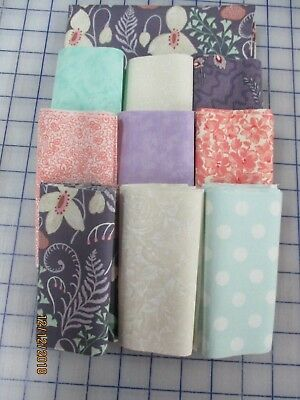 Awesome Blends In Mints, Peach & Lilacs Disappearing 9 Patch Quilt Top Kit