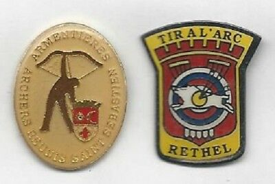 Lot De 2 Pin's Tir A L'arc