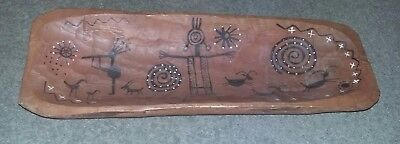 Primitive Indian Made Trencher Dough Bowl by Zuni Artist C.J Prophet Preowned