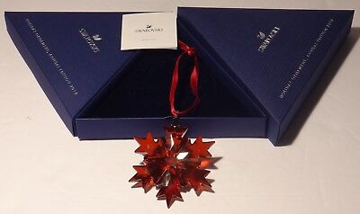 Swarovski Christmas 2018 Large Red Snowflake Ornament 5460487 ~ New In Box