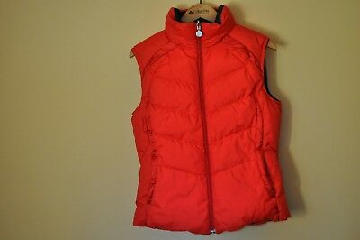 Excellent NIKE Red / Black Reversible Quilted Duck Down Puffer Vest M ( 8-10 )