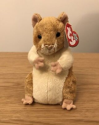 Ty Beanie Babies Pellet - The Hamster With Tags Excellent Condition Retired