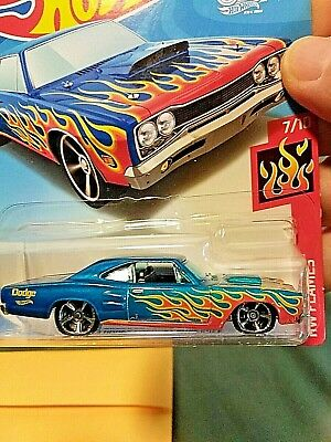 Hot Wheels 69 Dodge Coronet Superbee  white//flames NEW  MOMC