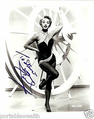 JANE POWELL Hand Signed 8 x 10 Black & White Photo. Signed to Steve. Authentic