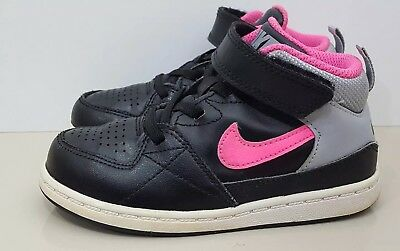 63f022fac586a NIKE PRIORITY MID TD 653694-065 Girls Black Pink Grey Trainers Uk Infant