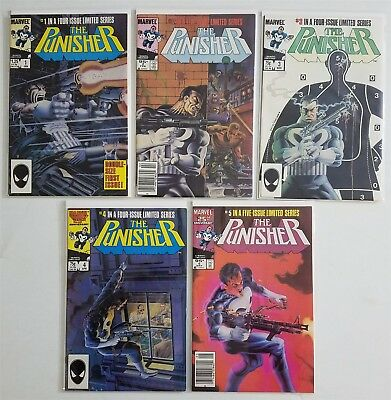 Punisher #1-5 Copper Comic Limited Series Complete Run Lot Mike Zeck, High Grade