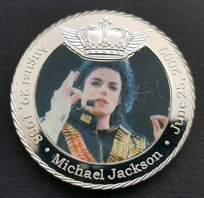 The King Of Pop MICHAEL JACKSON Challenge Coin FREE COIN STAND AND BRAND NEW FIT
