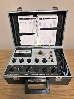 "Sencore CR70 Universal CRT Analyzer & Restorer The ""Beam Builder"" w/ Set Up Book"