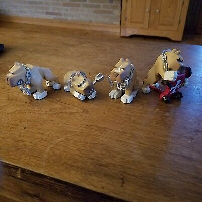 West Coast Choppers Cisco the Dog Figurines 4 total only displayed New Condition